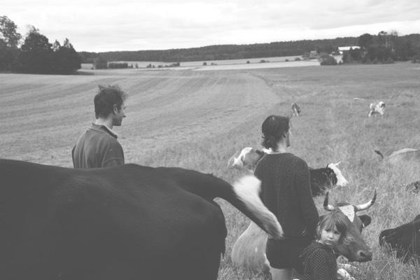 Ceciles Jongers, Job Michielsen och ett av deras barn i kohagen Ullberga gård