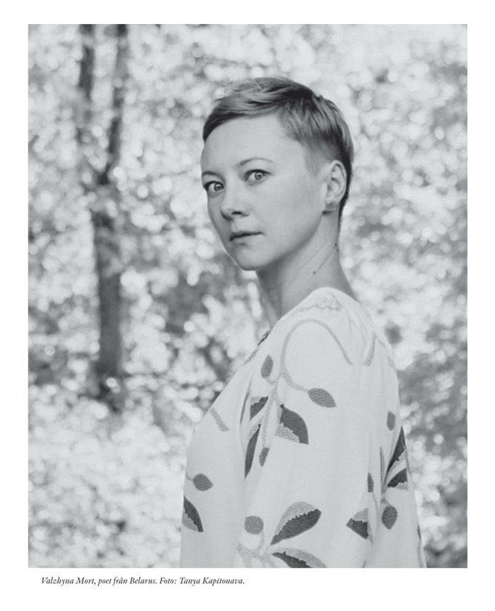 Valzhyna Mort, poet från Belarus. Foto: Tanya Kapitonava.