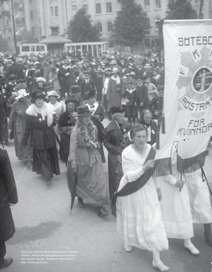 Kvinnor som demonstrerar 1918